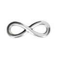 infinity sign spacer for bracelet or necklace 30x11 mm Antique Silver Tone x 1