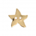 Smooth Button 12 mm - Starfish - Gold tone x1