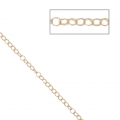 Thin mesh chain 1.8x2.2 mm Light Gold HQ x 1m
