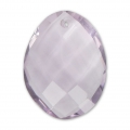 Oval Faceted gemstone Pendant 20x15 mm Amethyst x1