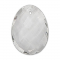 Oval Faceted gemstone Pendant 20x15 mm Crystal x1