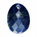 Oval Faceted gemstone Pendantt 20x15 mm Lapis x1