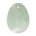 Oval Faceted gemstone Pendant 20x15 mm Aventurine x1