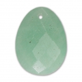 Oval Faceted gemstone Pendant 20x15 mm Amazonite x1