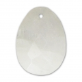 Oval Faceted gemstone Pendant 20x15 mm Moonstone Rainbow x1