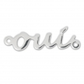 Oui spacer 2 loops 27 mm Silver Tone x1