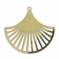 Fan-shaped pendant designed by Perles & Co 24 mm Gold Tone x1