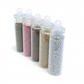 5 bottles of colored microballs holeless 0.5 mm Metallic x20g