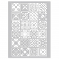 Silk Screen Graine Créative for Polymer Clay 114x153 mm- Azulejos Pattern