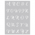 Silk Screen Graine Créative for Polymer Clay 114x153 mm- Alphabet Pattern