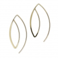 Large metal earwires 43 mm Gold Tone x2