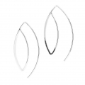 Large metal earwires 43 mm Silver Tone x2