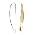 Large design metal earwires 55 mm Gold Tone  x2