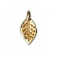 Mini leaf charms 9 mm for jewelry creation - Gold Tone x10