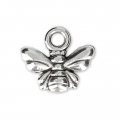 Mini butterfly charms 10 mm for jewelry creation - Antique Silver Tone x6