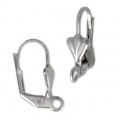 Fleur-de-lys leverback earrings 18 mm Stainless steel x4