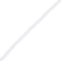 Faceted flat round beads 3x2 mm White Opaque x38cm
