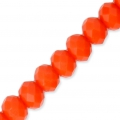 Faceted flat round beads 4x3 mm Light Coral x48cm