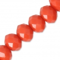 Faceted flat round beads 6x4 Light Coral x45cm