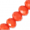 Faceted flat round beads 8x6 mm Light Coral x40cm