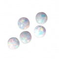 Round synthetic cabochon 4 mm imitation Opale x1