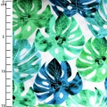 Fabric Garden Isle by Michael Miller - White Luscious Leaves x10cm