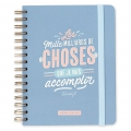 Weekly Diary 2018 2019 Mr. Wonderful 16x22cm - Les mille milliards de choses