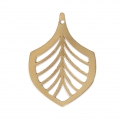 Palm leaf pendant designed by Perles & Co 26 mm Gold Tone x1