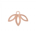 Leaf pendant designed by Perles & Co 9 mm - Rose Gold Tone x1