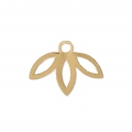 Leaf pendant designed by Perles & Co 9 mm - Gold Tone x1
