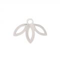 Leaf pendant designed by Perles & Co 9 mm - Silver Tone x1