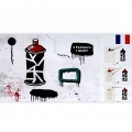 Decorative stencil Home deco 15x40 cm Street and abstract art x1