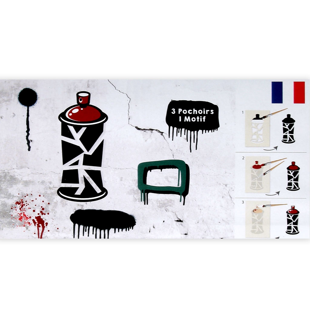 Decorative stencil Home deco 15x40 cm Street and abstract art x1 ...