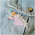 Made by me Brick Stitch Kit to make an unicorn brooch