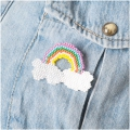 Made by me Brick Stitch Kit to make a Rainbow Brooch