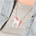 Made by me Brick Stitch Kit to make an Unicorn necklace