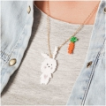 Made by me Brick Stitch Kit to make a Hare necklace