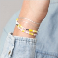 Made by me Brick Stitch Kit to make a pastel bracelet
