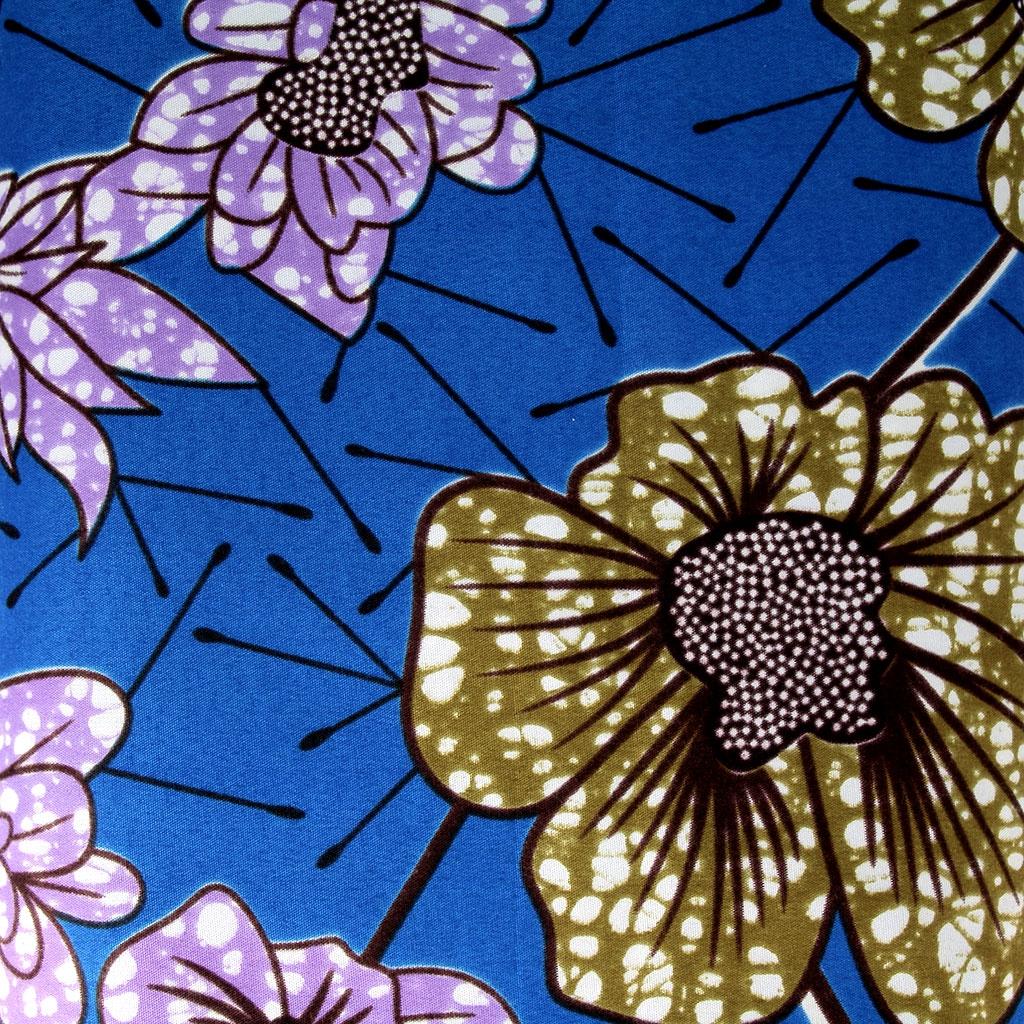 Wax fabric flowers blue violet khaki green x10cm perles co wax fabric flowers blue violet khaki green x10cm izmirmasajfo