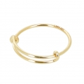 14 Kt Gold-Filled fine jonc ring ajustable - Size 52 to 56 x1