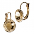 Leverback Earrings for Swarovski 1028/1088 8 mm and weaving - Gold Tone x2