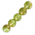 Round Gemstone beads 6 mm Peridot x15