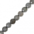 Round faceted beads 4 mm Gemstone Labradorite x36cm