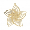 Laser cut star shape pendants 32 mm for jewelry creation - Gold Tone x1