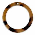 Loop pendant in cellulose acetate 34.5 mm Tortoise Shell Brown/Black x1