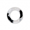 Loop pendant in cellulose acetate 21 mm Tortoise Shell White/Black x1
