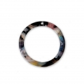 Loop pendant in cellulose acetate 21 mm Tortoise Shell Pink/Black x1