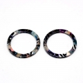 Loop pendant in cellulose acetate 14.5 mm Tortoise Shell Pink/Black x1