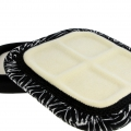 Square traveller 85 white black beading tray x1