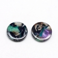 Round sequin in cellulose acetate 9.5 mm Tortoise Shell Green/Black x1